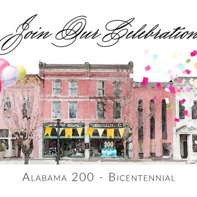 Our free, family friendly programs celebrating Alabama's  2019 Bicentennial will educate our children about Huntsville-Madison County's historic resources to ensure their place in our community for tomorrow and the next hundred years.