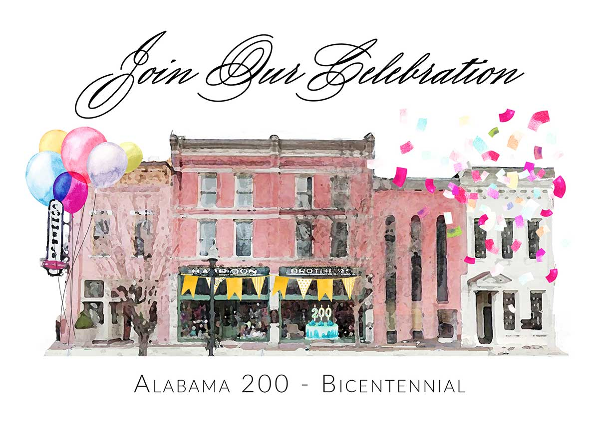 We're celebrating Alabama's Bicentennial Birthday through free education programs. Join our celebration!